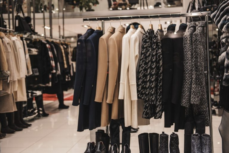 Urban clothing on hangers