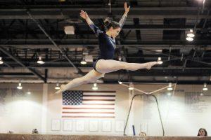 gymnast performing