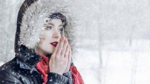 woman during winter